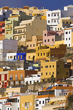 Colourful houses in San Sebastian de la Gomera, La Gomera, Canary Islands, Spain, Europe