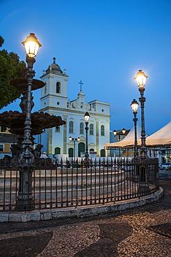 Nightshoot of the 16 do novembro Square, Pelourinho, UNESCO World Heritage Site, Salvador da Bahia, Bahia, Brazil, South America