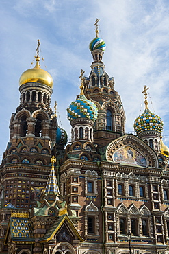 Church of the Saviour on Spilled Blood, UNESCO  World Heritage Site, St. Petersburg, Russia, Europe