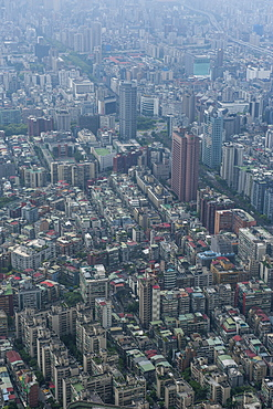 View over Taipeh from the 101 Tower, Taipeh, Taiwan, Asia