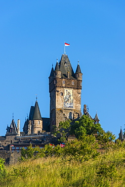 Cochem Castle, Moselle Valley, Rhineland-Palatinate, Germany, Europe