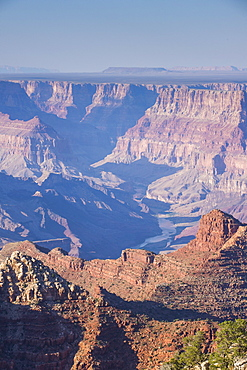 Desert view point over the Grand Canyon, UNESCO World Heritage Site, Arizona, United States of America, North America