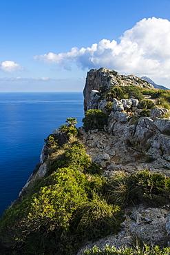 The rocky cliffs of Cap Formentor, Mallorca, Balearic Islands, Spain, Mediterranean, Europe