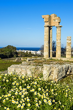 Temple of Apollo at the Acropolis, Rhodes, Dodecanese, Greek Islands, Greece, Europe