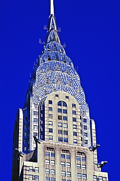 Close up of the Chrysler Building, New York City, United States of America, North America