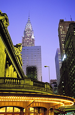 Grand Central Station and the Chrysler Building, New York City, United States of America, North America