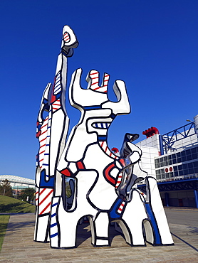Sculpture of Monument au Fantome by Jean Dubuffet in Discovery Park, Houston, Texas, United States of America, North America