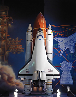 Display of the Challenger, NASA, Johnson Space Center, Houston, Texas, United States of America, North America