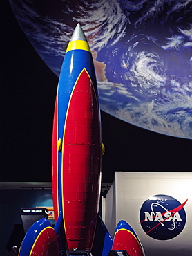 Display of the spaceship, NASA, Johnson Space Center, Houston, Texas, United States of America, North America