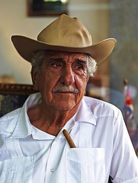 Portrait of Don Pedro Bello, Cuban-American cigar maker, Miami, Florida, United States of America, North America