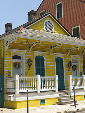 Creole cottages, French Quarter, New Orleans, Louisiana, United States of America, North America