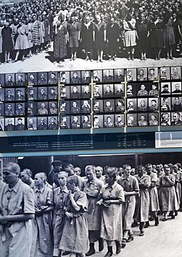 Display of Nazi concentration camp scenes, Yad Vashem, Jerusalem, Israel, Middle East