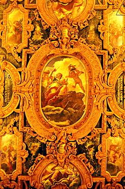 Ceiling detail, Ca'Pesaro Gallery of Modern Art, Venice, Veneto, Italy, Europe