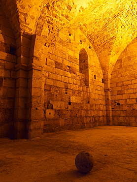 The Crusader Citadel built by the Knights Hospitaller, UNESCO World Heritage Site, Akko, Israel, Middle East