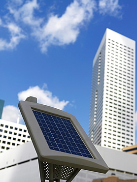 Solar powered parking meter, Houston, Texas, United States of America, North America