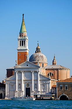 Church of San Giorgio Maggiore, designed by Palladio, San Giorgio island, Venice, UNESCO World Heritage Site, Veneto, Italy, Europe