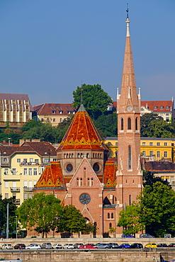 The Capuchin Church (Kapucinus Templom), Buda side of the Danube, Budapest, Hungary, Europe