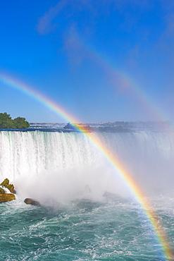 Double rainbow, Horseshoe Falls, Niagara Falls, Ontario, Canada, North America