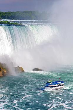 Horseshoe Falls, Maid of the Mist boat tour, Niagara Falls, Ontario, Canada, North America