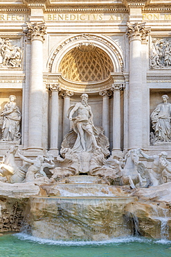 Trevi Fountain, Oceanus statue, Rome, Lazio, Italy, Europe
