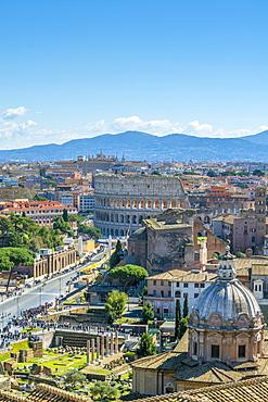 Coliseum, UNESCO World Heritage Site, Rome, Lazio, Italy, Europe
