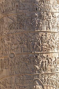 Trajan's Column, UNESCO World Heritage Site, Rome, Lazio, Italy, Europe