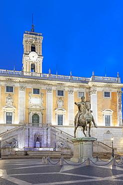 Piazza del Campidoglio, Palazzo Senatorio, Capitoline Hill, Rome, Lazio, Italy, Europe