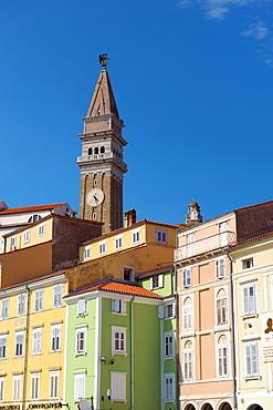 Church of St. George, Tartinijev trg (Tartini Square), Old Town, Piran, Primorska, Slovenian Istria, Slovenia, Europe