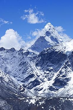 Summit of Ama Dablam from Kala Patthar, Sagarmatha National Park, UNESCO World Heritage Site, Solukhumbu District, Nepal, Himalayas, Asia