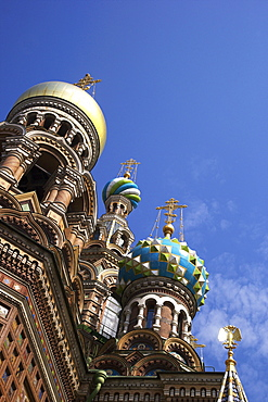 Church on Spilled Blood (Church of the Resurrection), UNESCO World Heritage Site, St. Petersburg, Russia, Europe