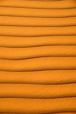 Even waves in the sand sanddune Mandara Libya