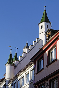 Biberach upon the Riss Baden-Wuerttemberg Germany gable of the old city hall