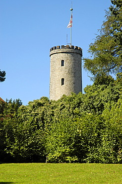 Watchtower of the Sparrenburg, Bielefeld, Teutoburg Forest, North Rhine-Westphalia, Germany