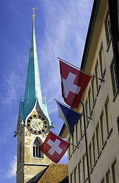 Church Frauenmuenster Zurich, Switzerland