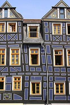 German Framework Road. Facade of a framework-house at Idstein, Hesse, Germany,