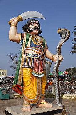 Asura statue of demon Mahishasura, Chamundi Hill, Mysore, Karnataka, South India, India, South Asia, Asia