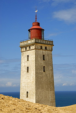 Lighthouse of Rubjerg Knude, Jammer Bay, Hjorring, Northwestern Jutland, Vendsyssel, Denmark, Scandinavia, Europe