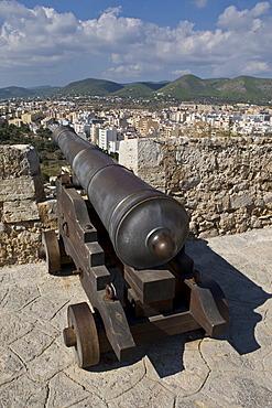 View from Dalt Vila to Eivissa, Ibiza, Baleares, Spain