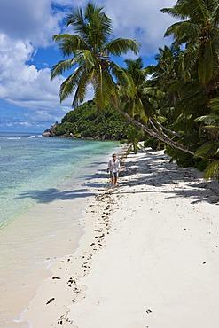 Lonely beach at Anse Baleine, Mahe Island, Seychelles, Indian Ocean, Africa