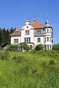 Art nouveau villa , in Lambach ( Lam ) , Upper Palatinate , Bavaria Germany
