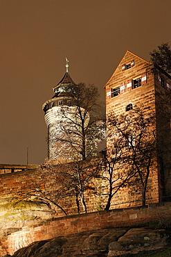 Kaiserburg castle, Nuremberg, Franconia, Bavaria, Germany