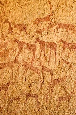 Prehistoric rock painting at Jebel Uweinat, Jabal al Awaynat