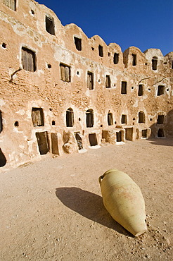 Storage castle with ghorfas, Qasr el Hajj, Nafusah mountains