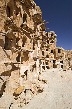 Ghorfas at qsar Kabao, Kabau, Kabaw, Nafusah Mountains