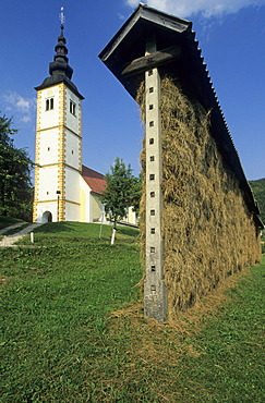 Church of Jereka, Gorenjska region, Slovenia