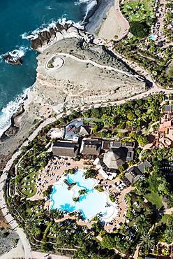 Beach and promenade, Playa de la Enramada, Hotel Sheraton La Caleta Resort and Spa, Holiday Region, Atlantic Coast, Costa Adeje, Tenerife, Spain, Europe