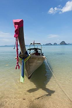 Longtail boat on Tubkaek beach, Krabi Province, Thailand, Asia