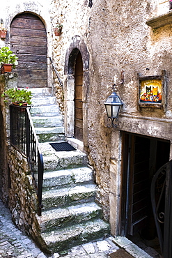 Stairs, Santo Stefano di Sessanio, Abruzzo, Italy, Europe