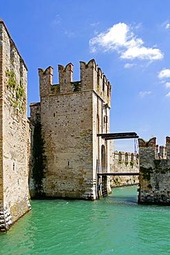 Castello Scaligero, Scaliger Castle, Lake Garda, Sirmione, Province of Brescia, Lombardy, Italy, Europe