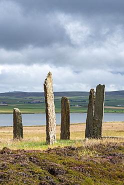 Ring of Brodgar, circa 2500 BC, Neolithic Stone Circle, Henge, UNESCO World Heritage Site, Orkney Mainland, Scotland, United Kingdom, Europe